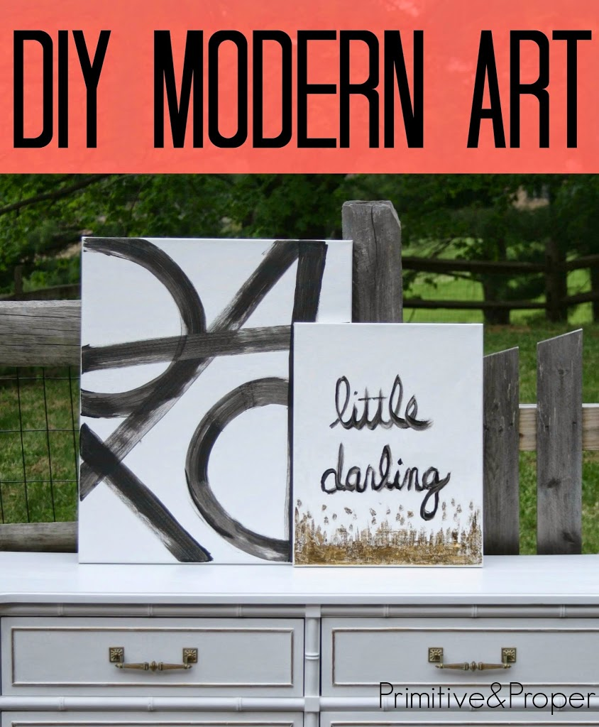 Diy modern art cassie bustamante for Diy contemporary art