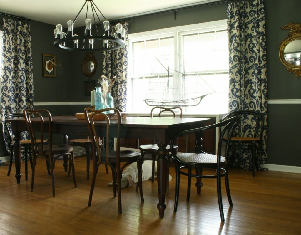 moody vintage eclectic dining room
