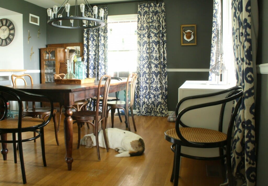 moody vintage eclectic nautical inspired dining room