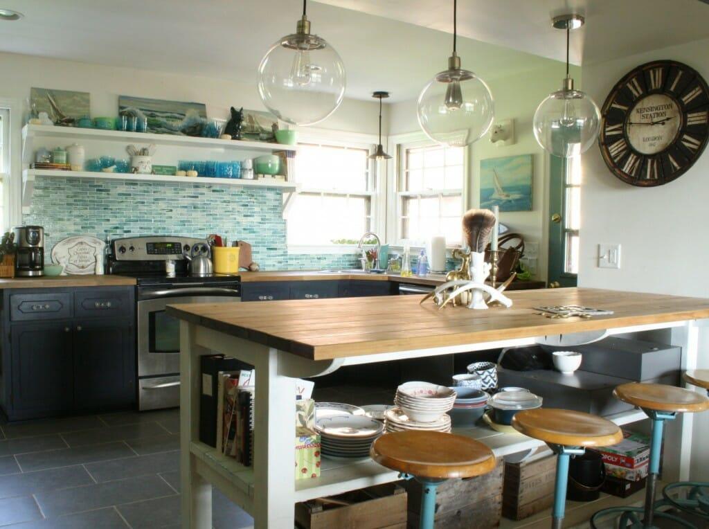 industrial kitchen island