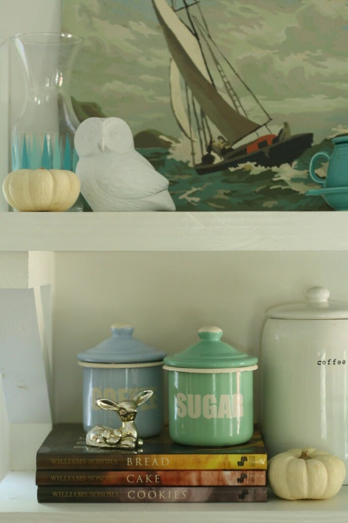 vintage canisters to organize in the kitchen