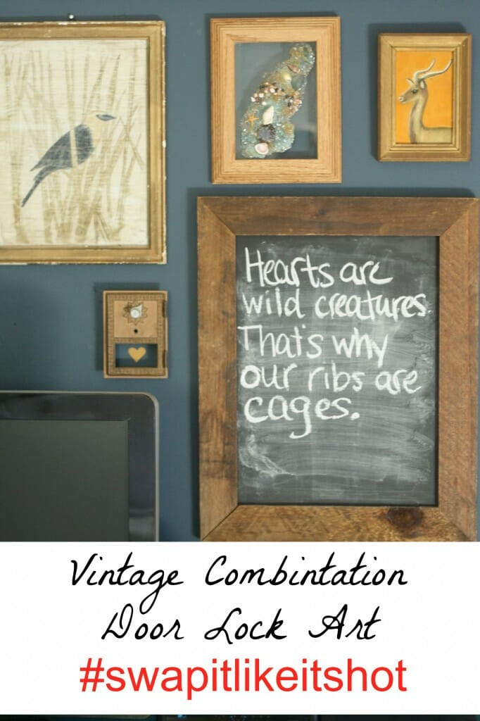 slh vintage combination lock in gallery wall