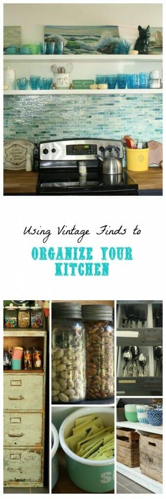 Using Vintage Finds for Kitchen Organization