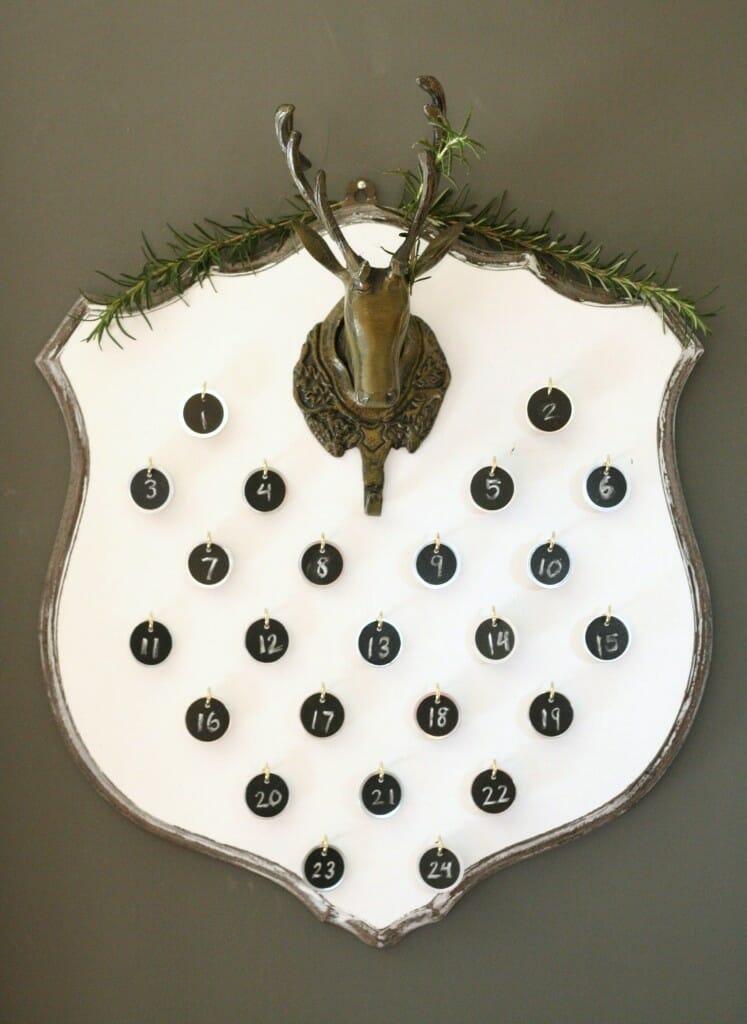 DIY deer mount advent calendar