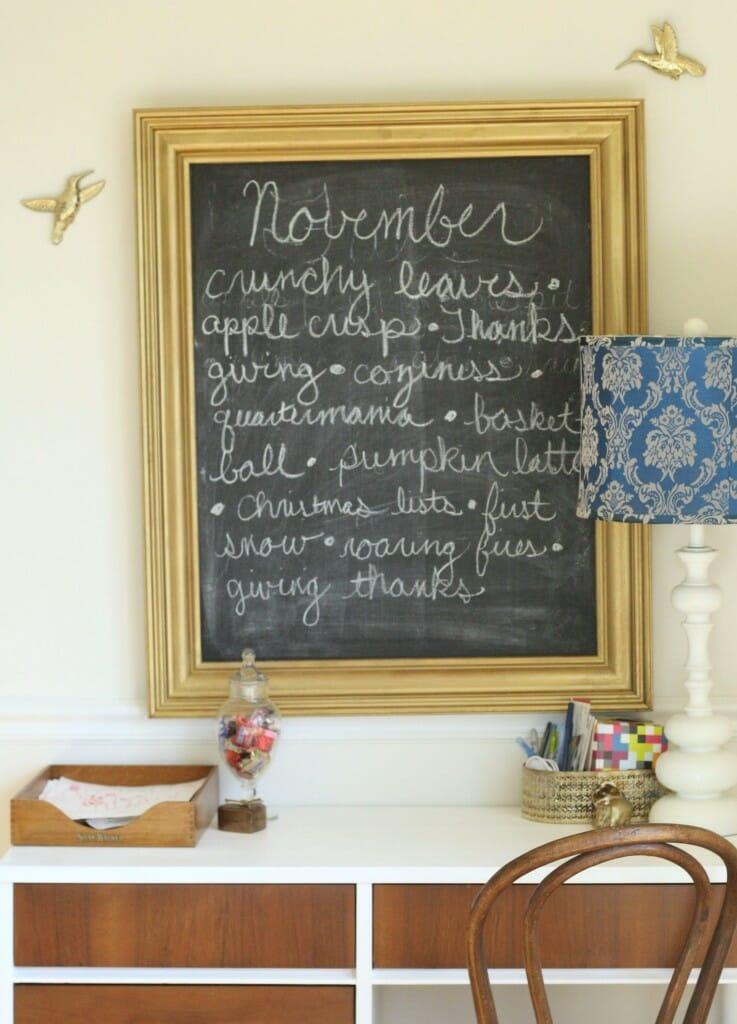 november chalkboard