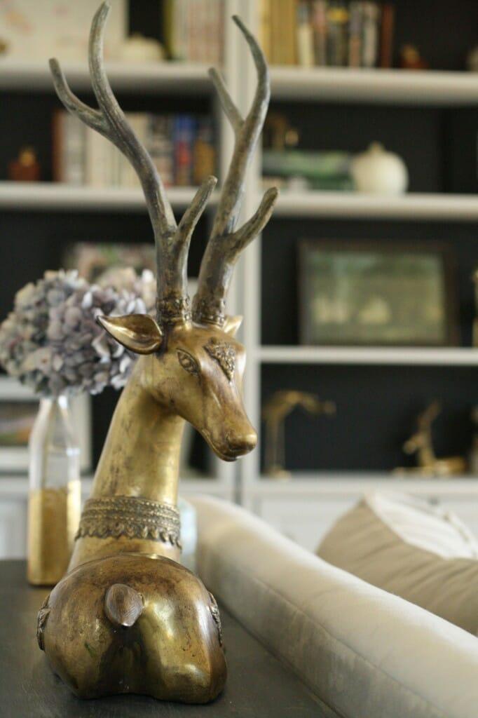 vintage brass antelope