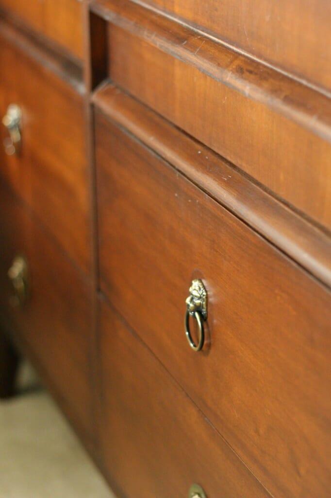 wood tone of midcentury dresser