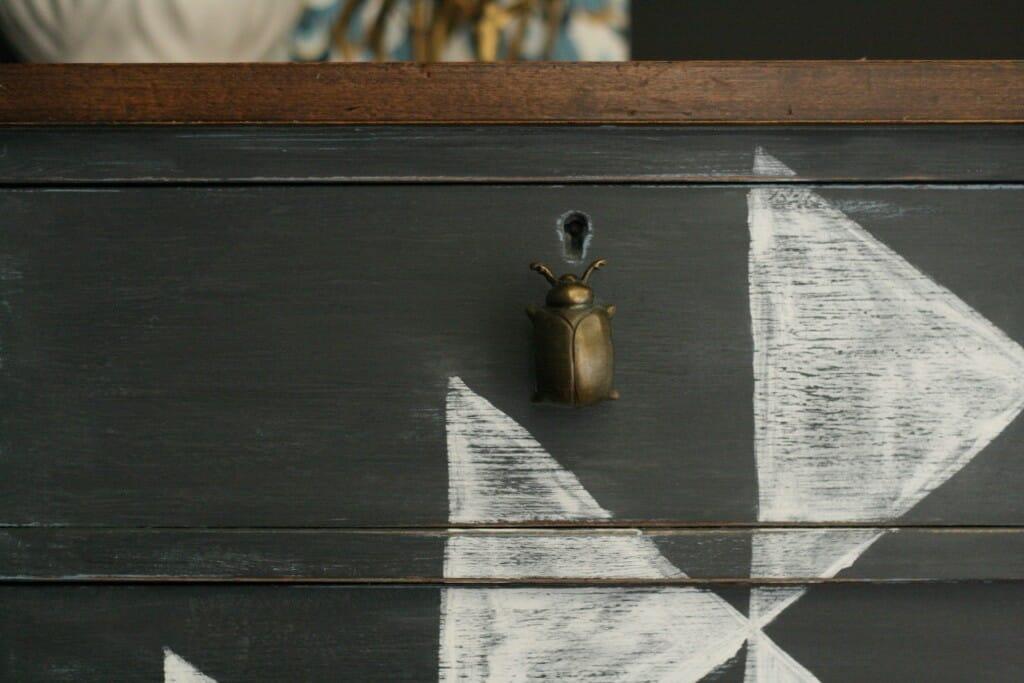 DIY Kilim Dresser with Beetle knobs