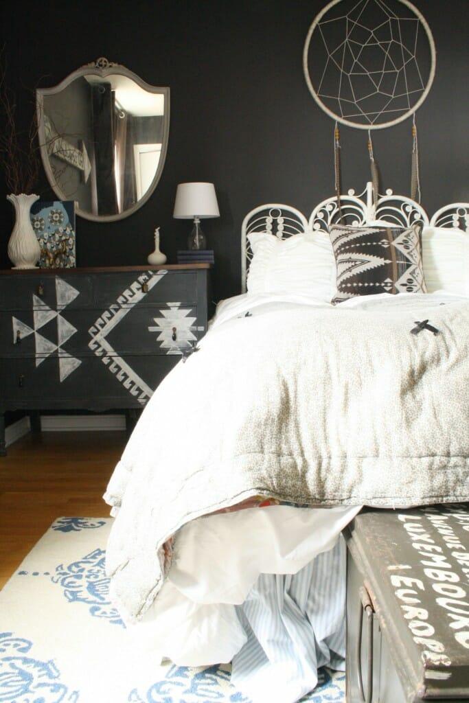 DIY Kilim inspired dresser/boho chic bedroom