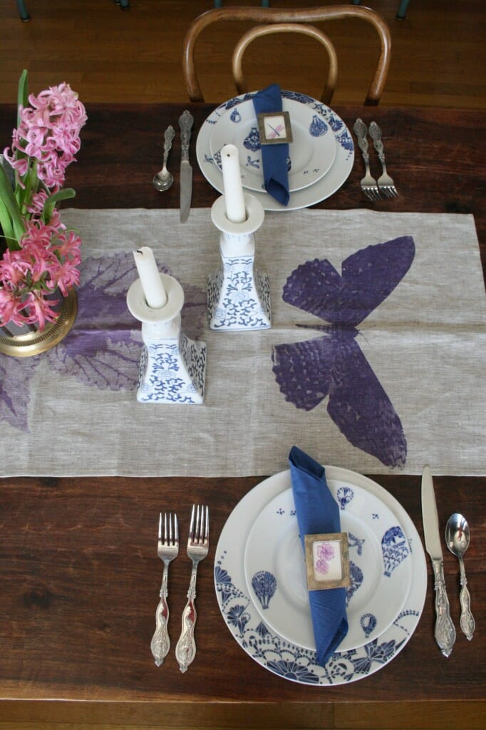 Splurge Vs. Steal Blue and White Spring Tablescape
