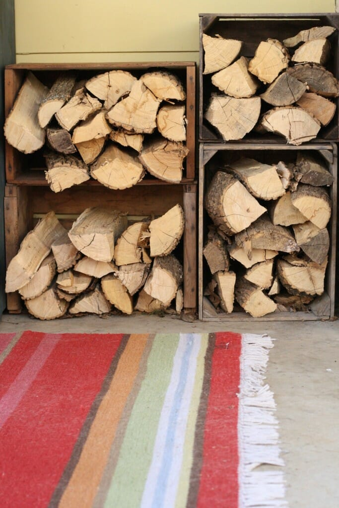 Crates to store firewood