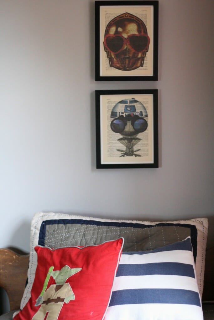 Star Wars art over bed