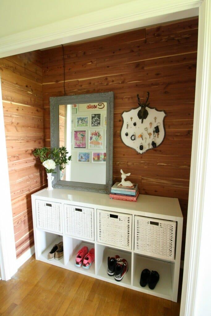 DIY Cedar Planked Closet