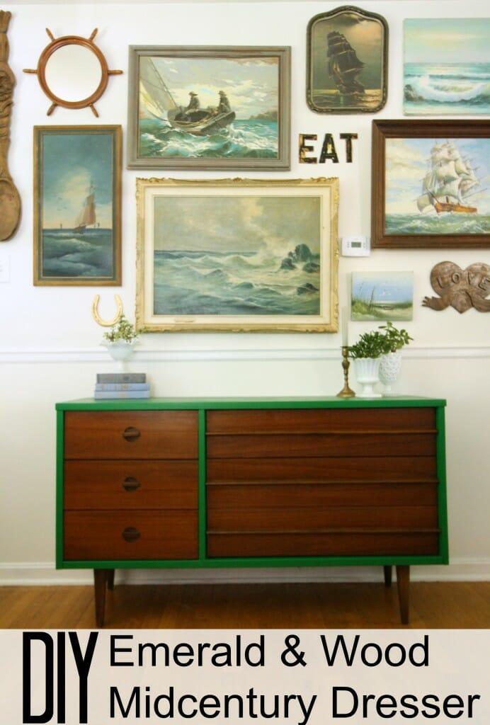 Emerald & Wood Midcentury Dresser
