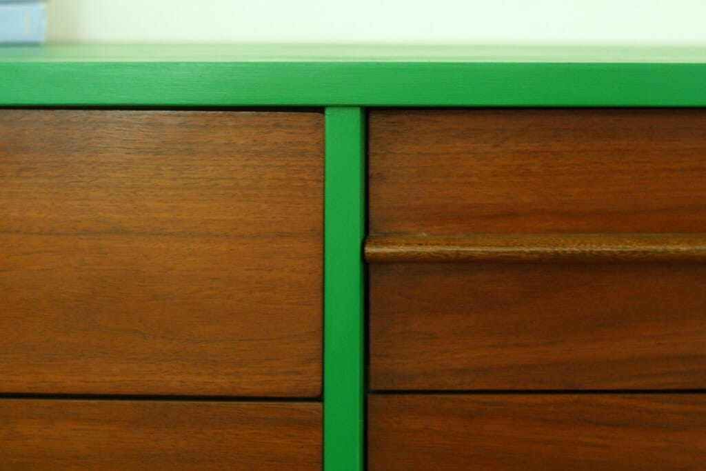 details of drawers with vinegar and oil