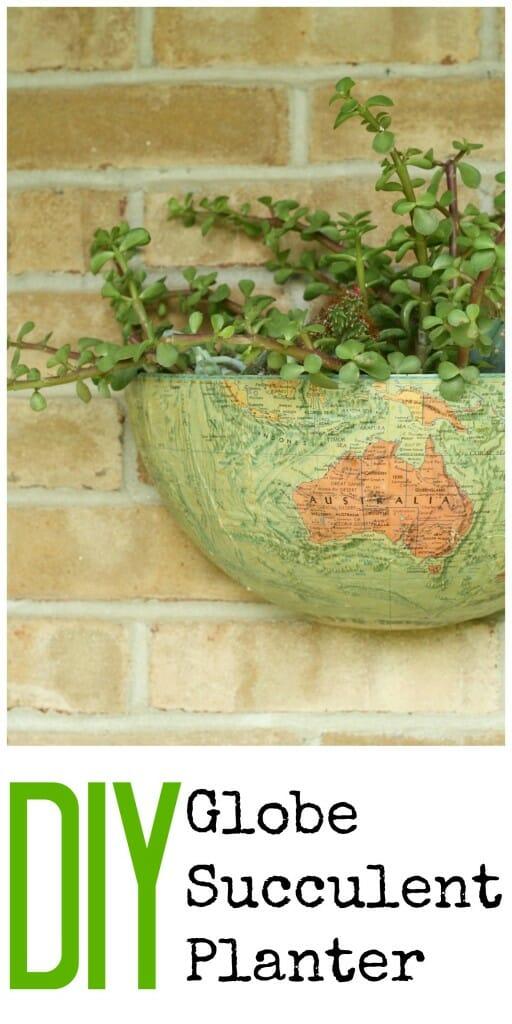 DIY Globe Wall Succulent Planter