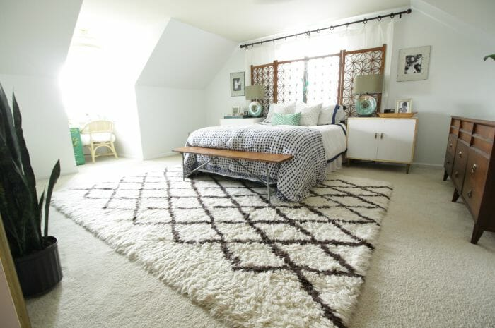 Modern Bohemian White Bedroom