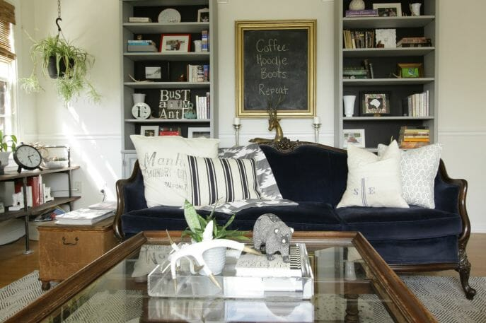 Eclectic Fall Living Room