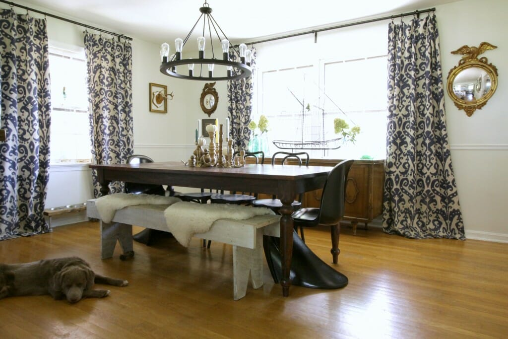 Eclectic vintage modern dining room