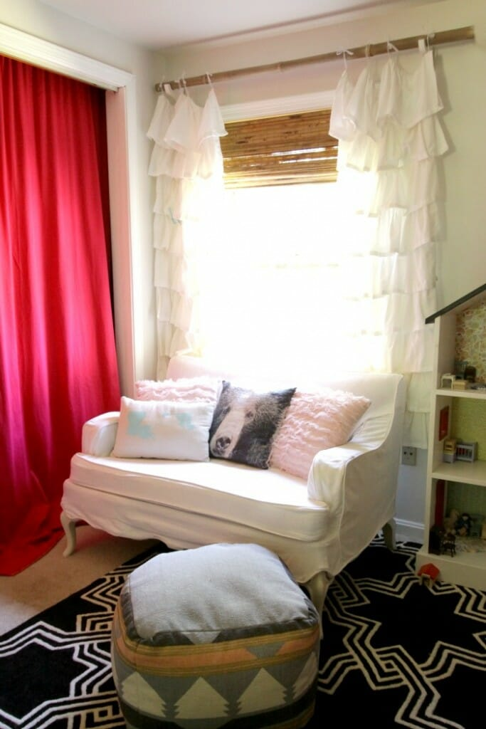 Bamboo Blinds in Girls Room