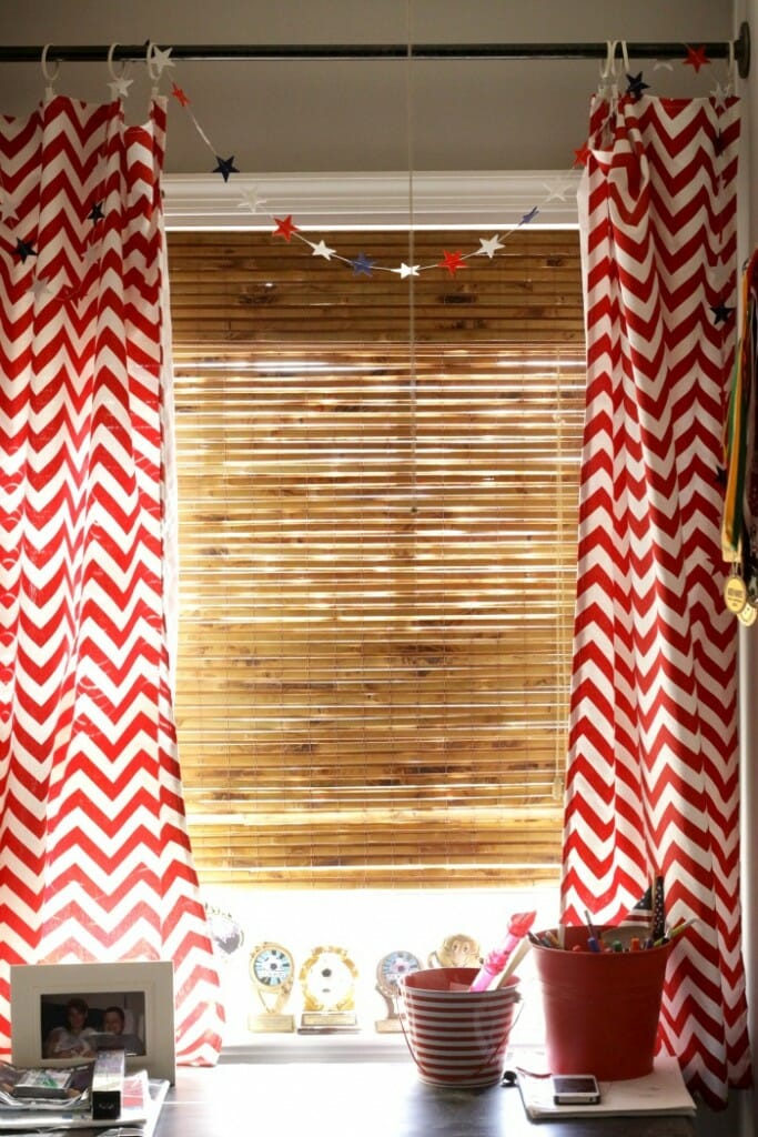 Bamboo Blinds in boys room