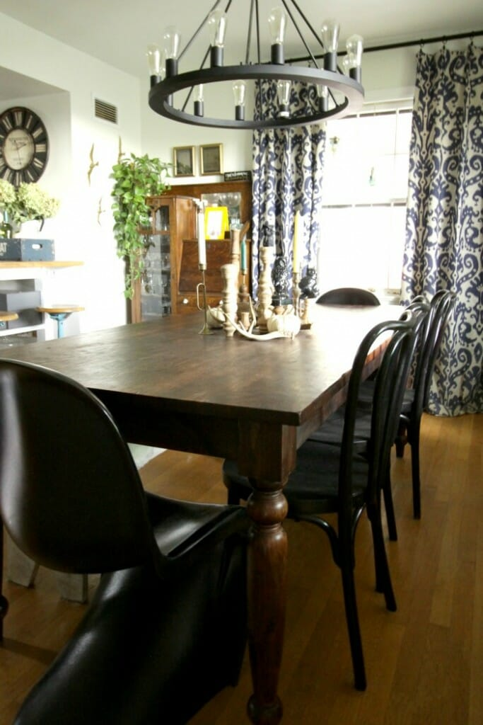 Fall Eclectic Dining Room