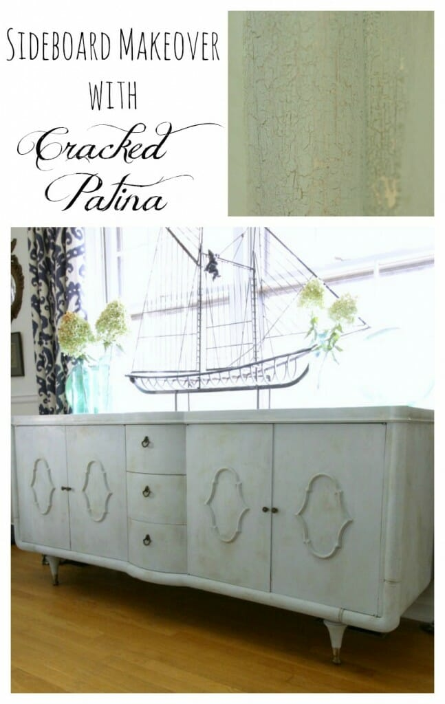 Sideboard Makeover with Cracked Patina