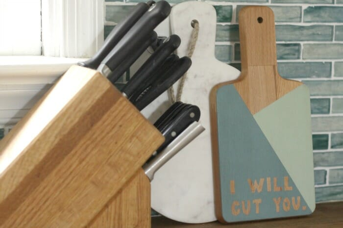I Will Cut You Cutting Board
