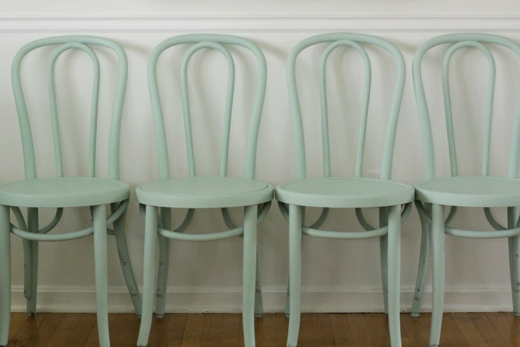 Mint Bentwood Chairs