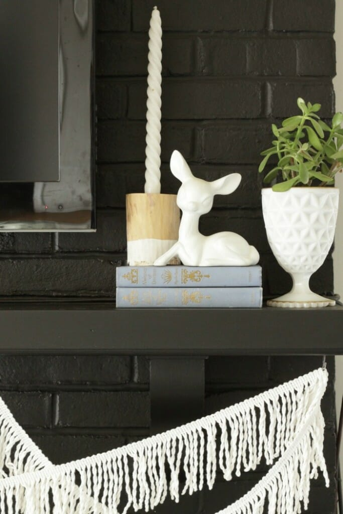 Simple Black and White Mantle- Eclectic & Natural