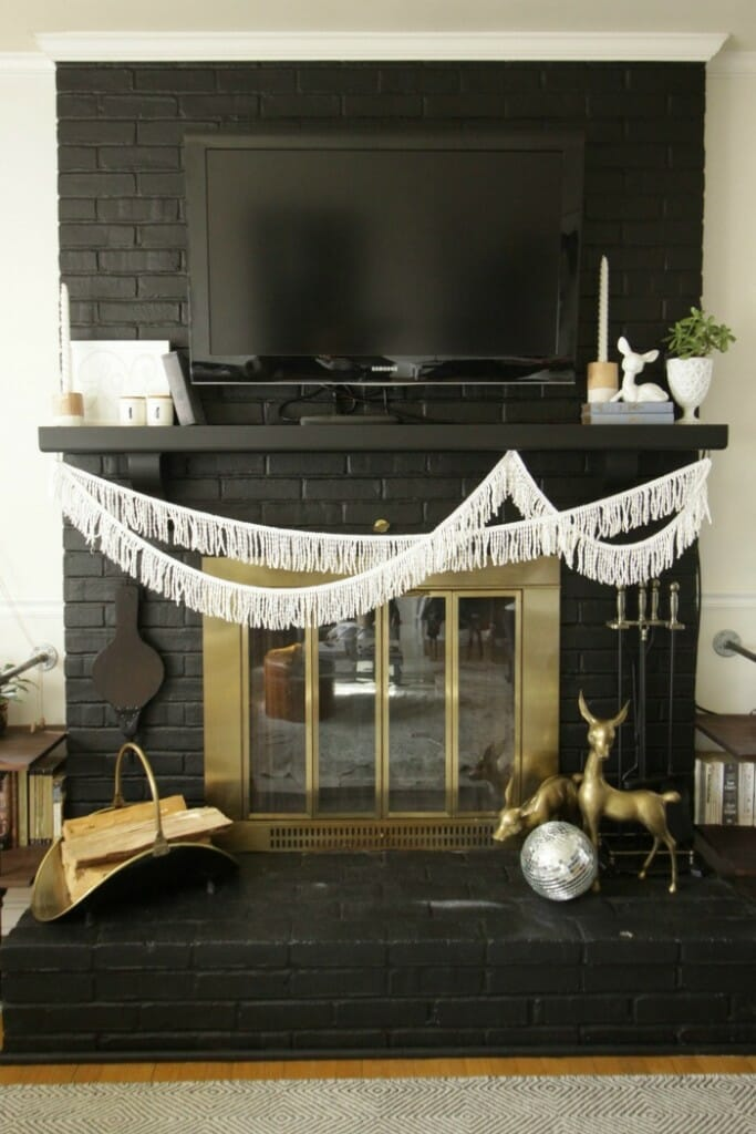 Black and White Valentine's Mantle- Eclectic
