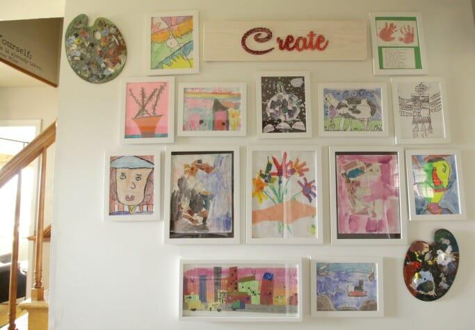 Creating a Kids Art Gallery