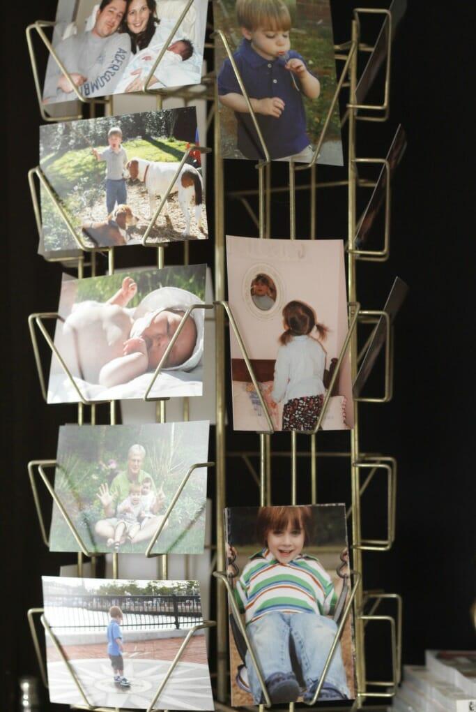Vintage card display as photo display