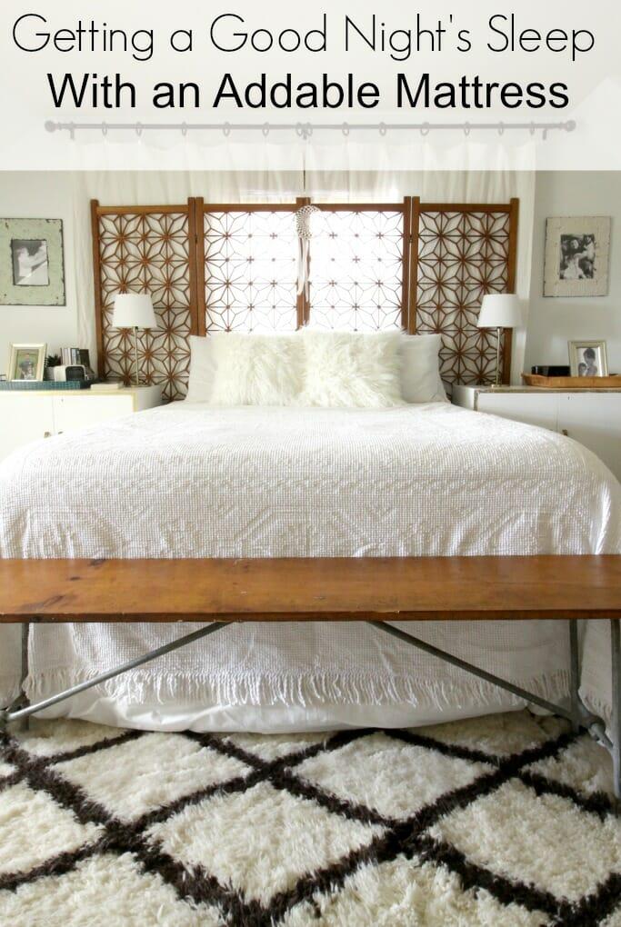 Getting a Good Night Sleep- Addable Mattress Honest Review