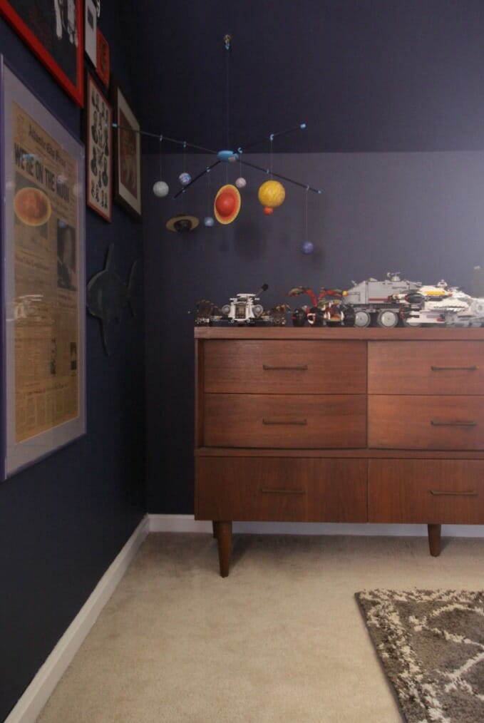 Midcentury Dresser in Tween Bedroom