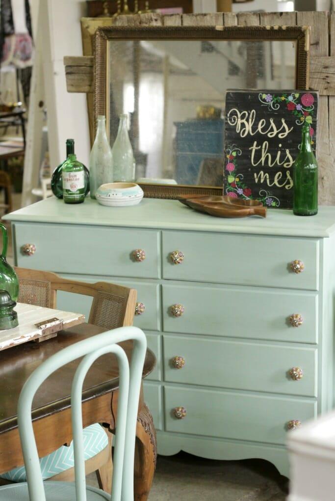 Sweet Mint Dresser as sideboard
