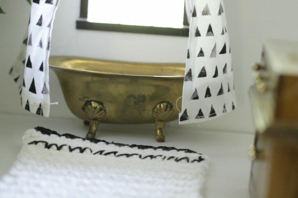 Vintage Brass Dollhouse bath tub