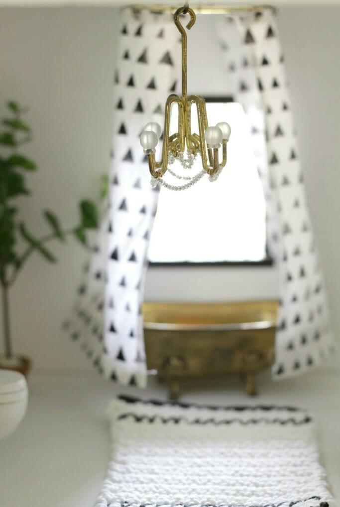 DIY dollhouse chandelier