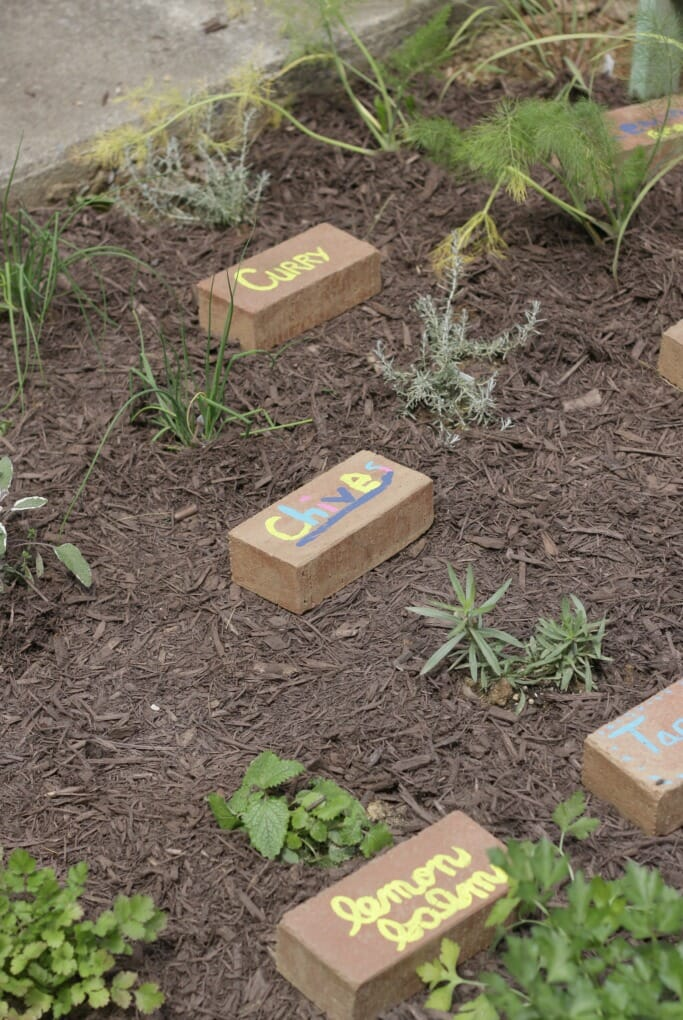 Upcycled Brick Markers