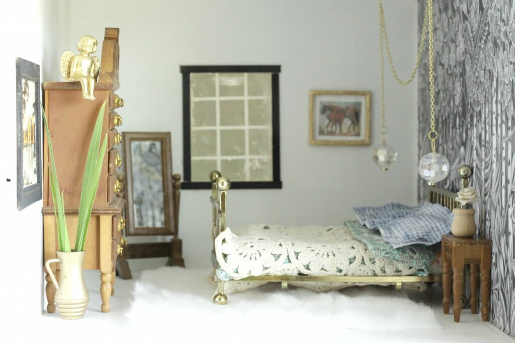 Eclectic Boho Dollhouse Master Bedroom
