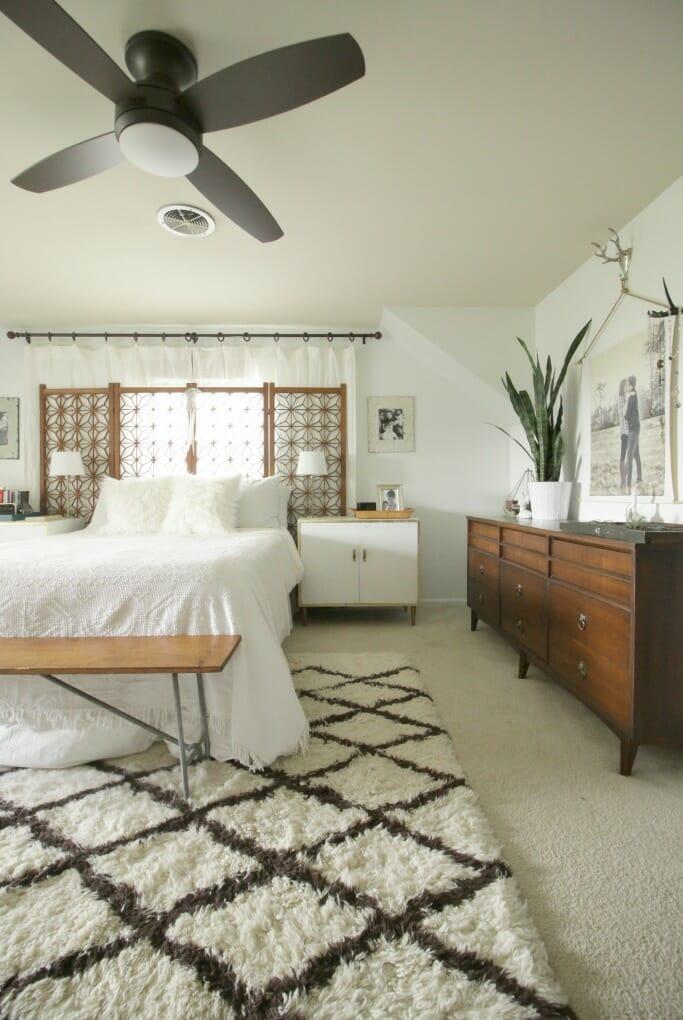 New Ceiling Fan in the Master Bedroom - Cassie Bustamante