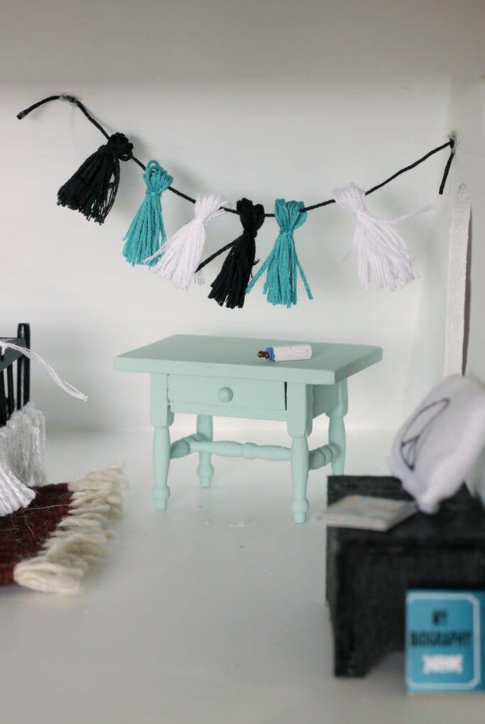 Dollhouse Nursery tassel garland