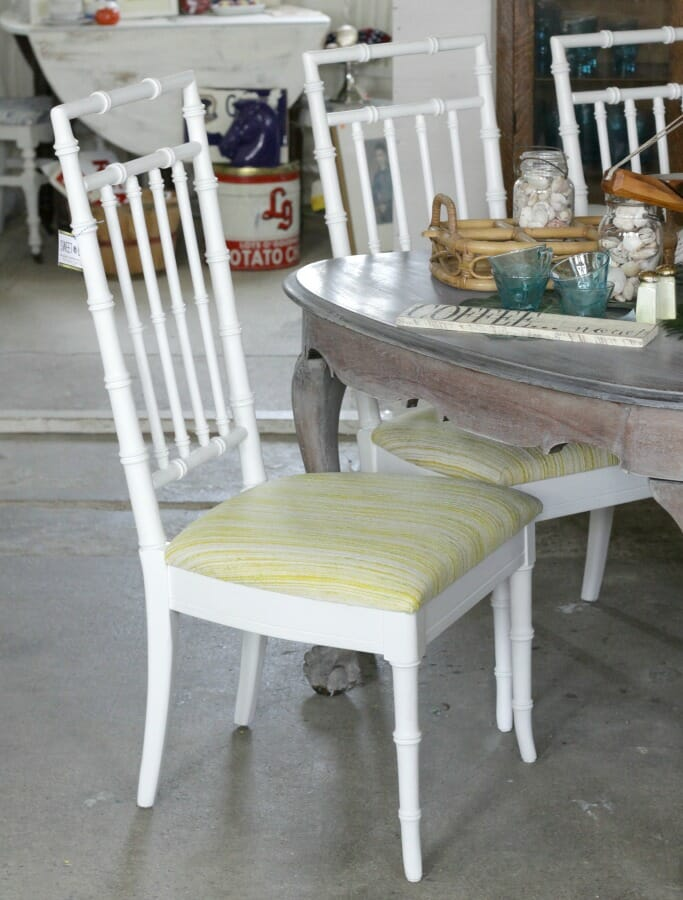 Faux Bamboo Chairs Painted with Amy Howard One Step from Ace
