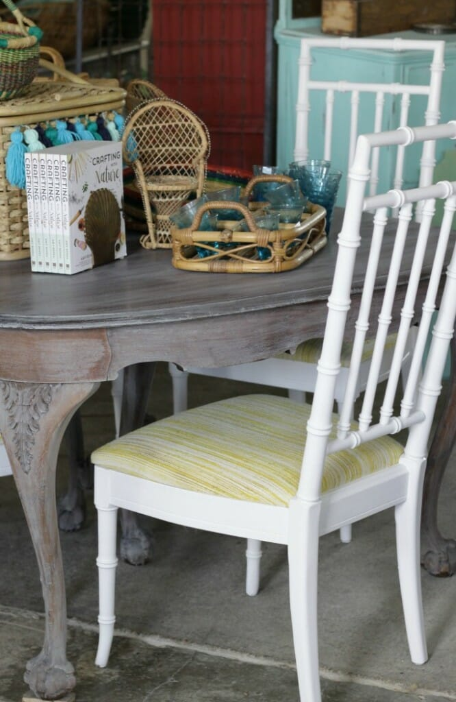 Bamboo Chairs Painted with Amy Howard Paint