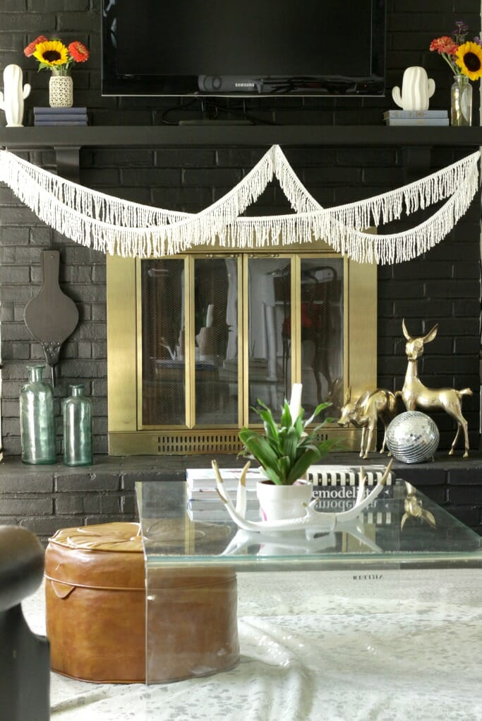 Brass-Deer-Eclectic-Boho-Fireplace-Mantle