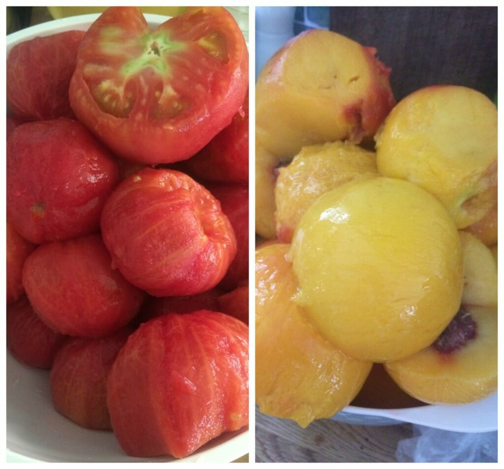 Peeled Tomatoes and Peaches